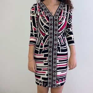 Nine West V neck Bodycon Mini Dress.